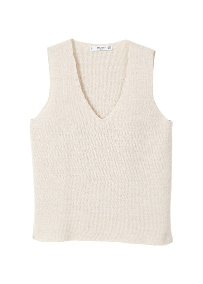MANGO Textured knit top
