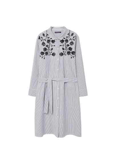 Violeta BY MANGO Striped shirt dress