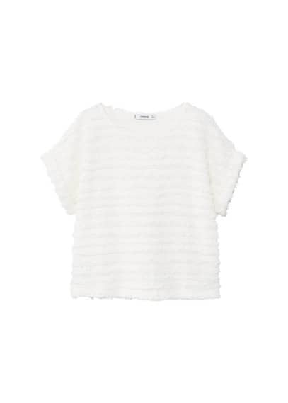 MANGO Fringe cotton t-shirt