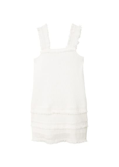MANGO Frayed edges dress