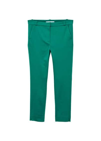 Pantalon cigarette crop