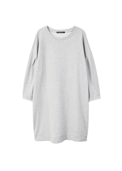 Violeta BY MANGO Pleats sweatshirt dress
