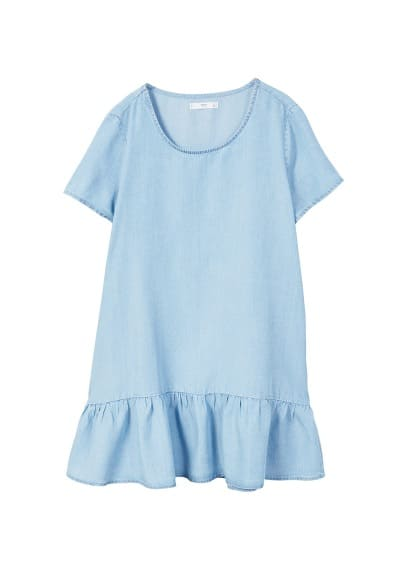 MANGO Frilled denim dress