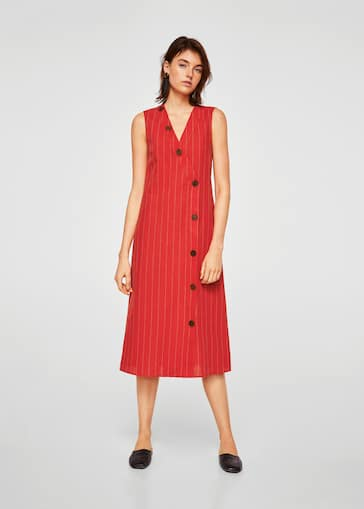 af3f1aba13 Striped linen dress - Women