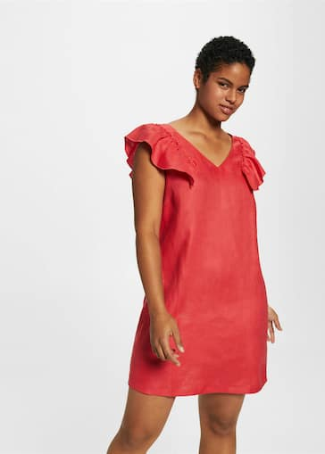 b3afb651f0 Ruffled linen dress - Woman