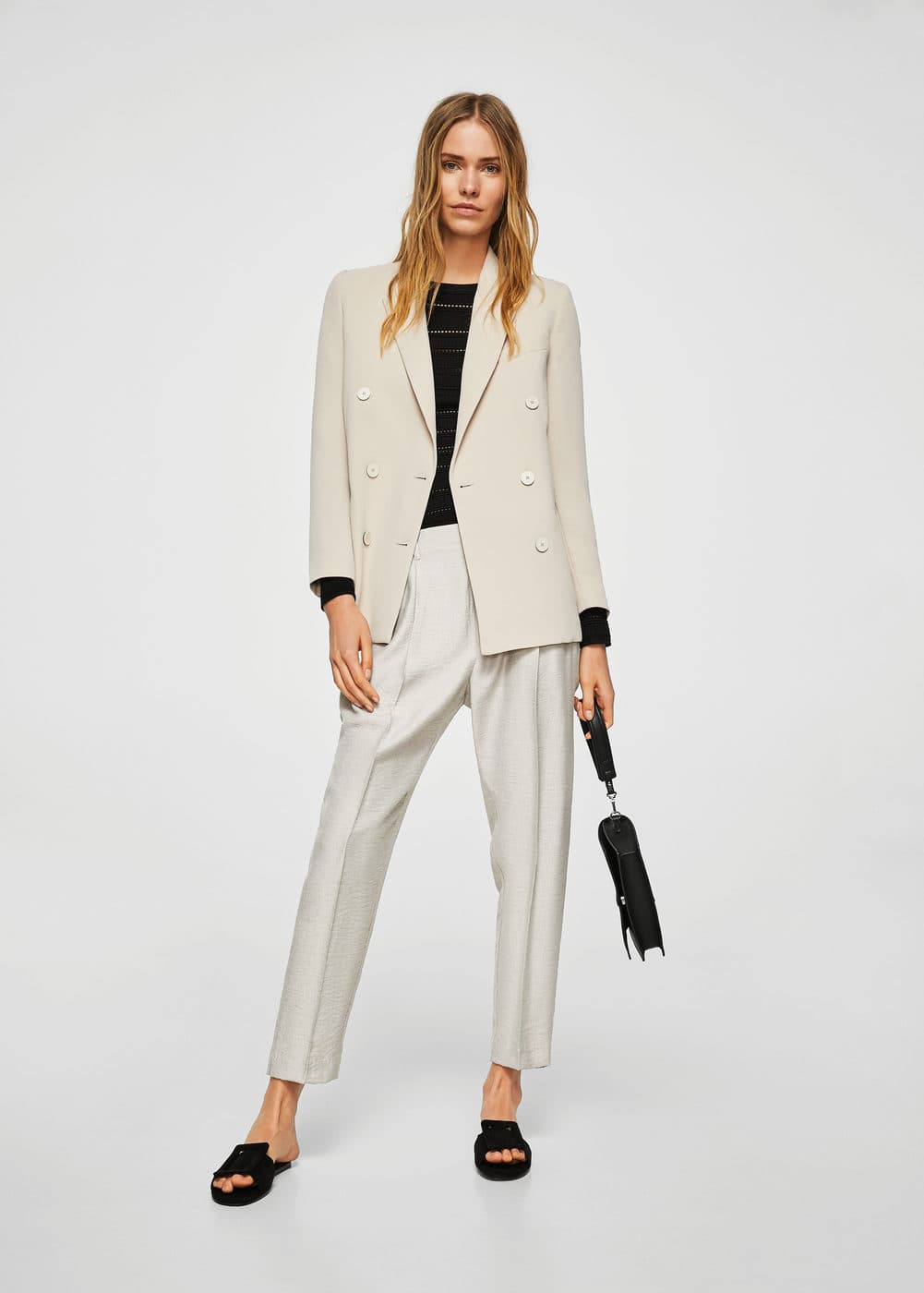 Pleat detail trousers   MNG