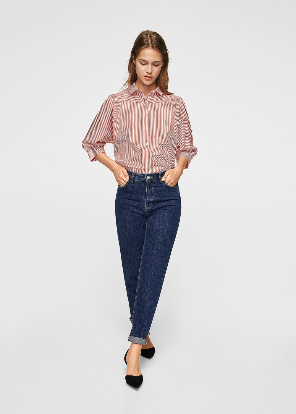 Puffed sleeves striped shirt   MNG