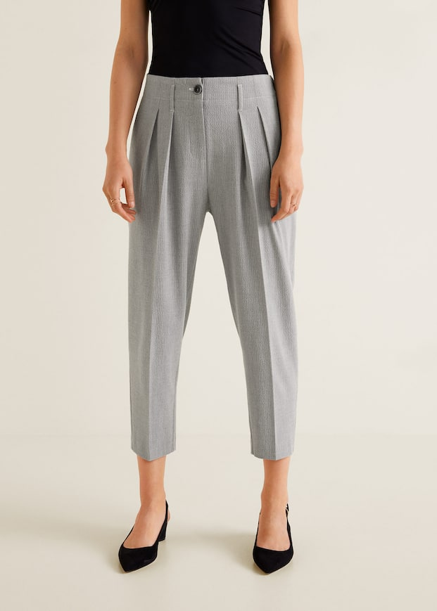 Texture Striped Trousers by Mango