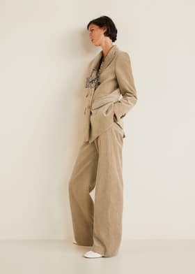 b746751ba566 Corduroy straight trousers - Women   Mango United Kingdom