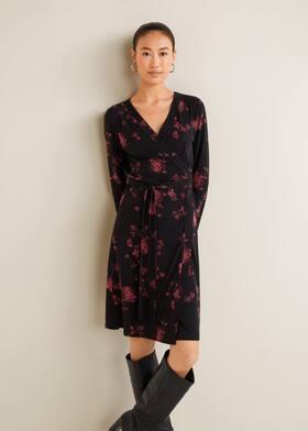 3f175daadbe9 Φόρεμα κρουαζέ με φιόγκο ...