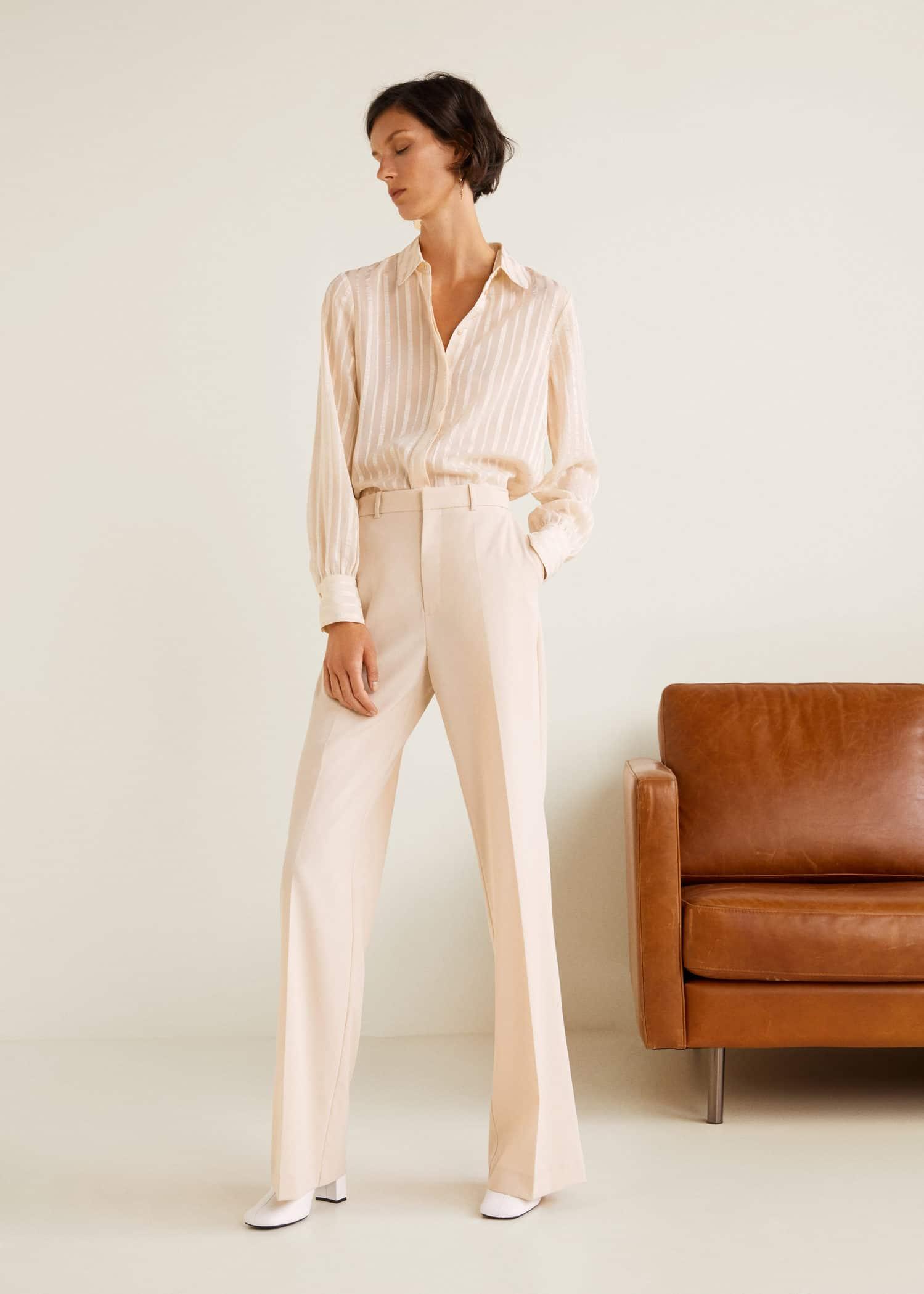 Palazzo France Pantalon Femme Taille Haute Mango ZvFqdUwB 9b9fd7eeab0b