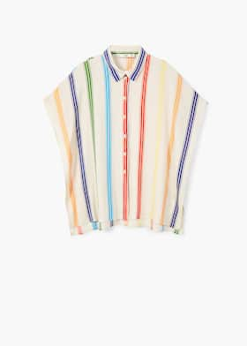 bf2a9e9dd Multicolor striped shirt - Woman | Mango Georgia