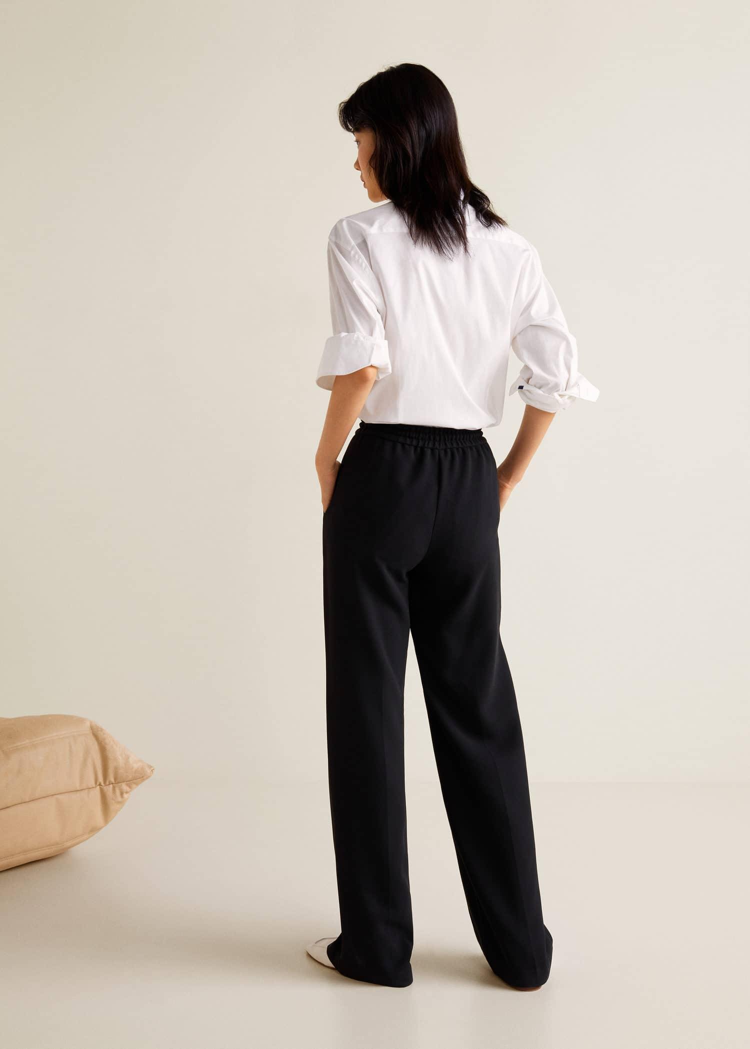 Pantalon droit fluide Femme | Mango Luxembourg