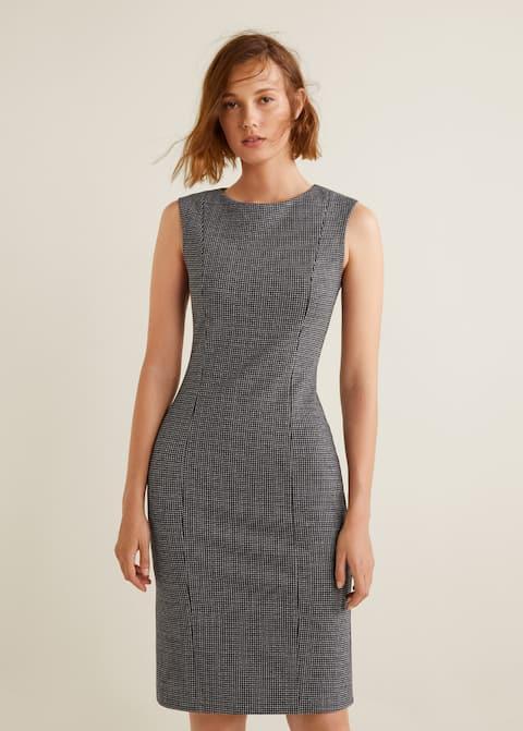 Φόρεμα midi καρό