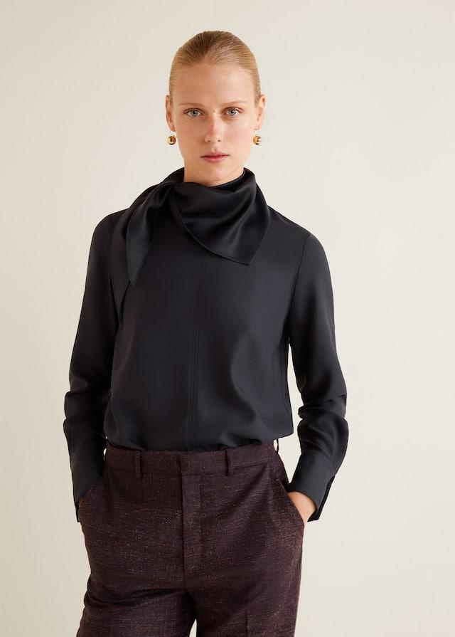 Tie-neck blouse