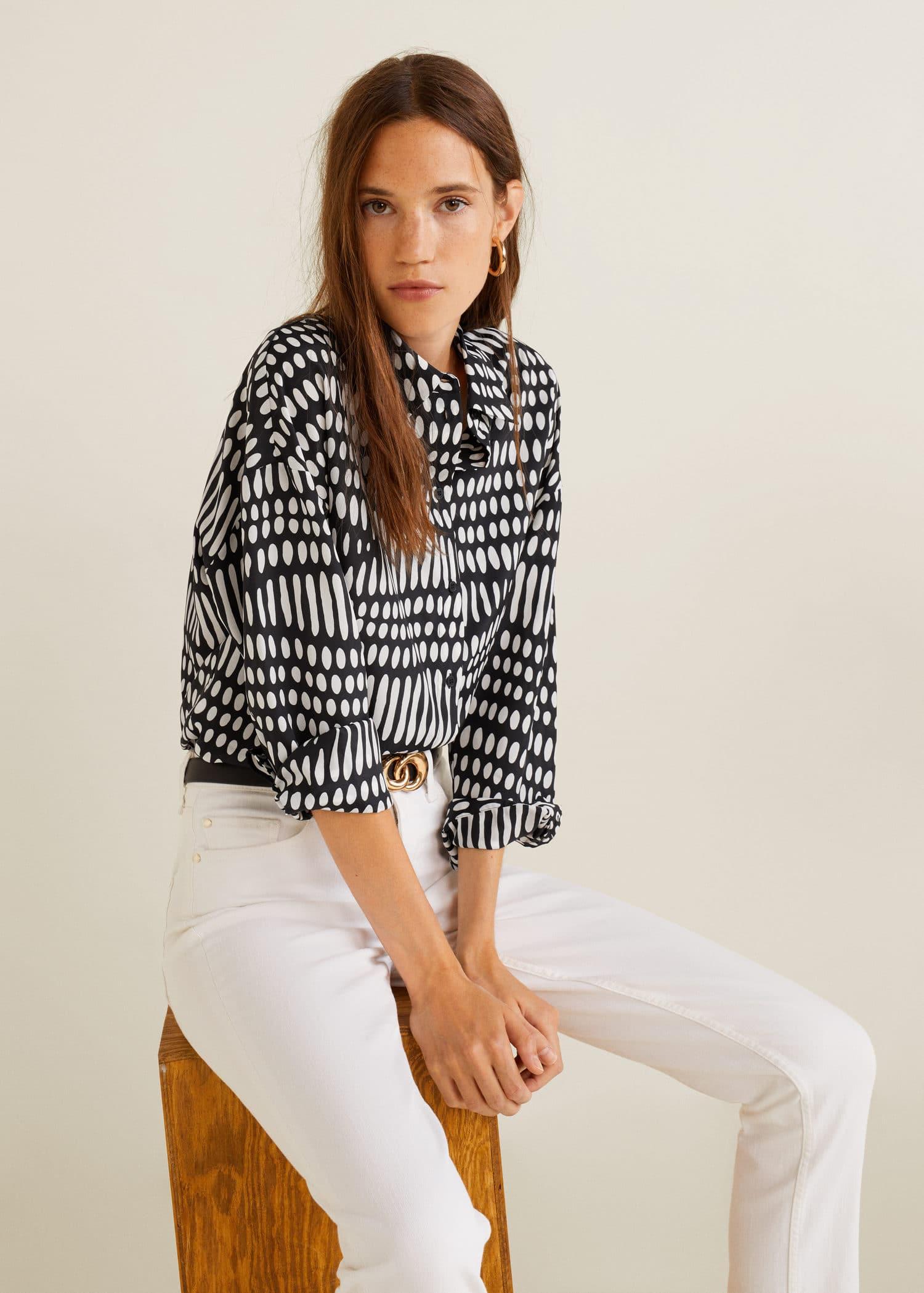 b8ef318295c64 Chemises pour Femme 2019   MANGO France