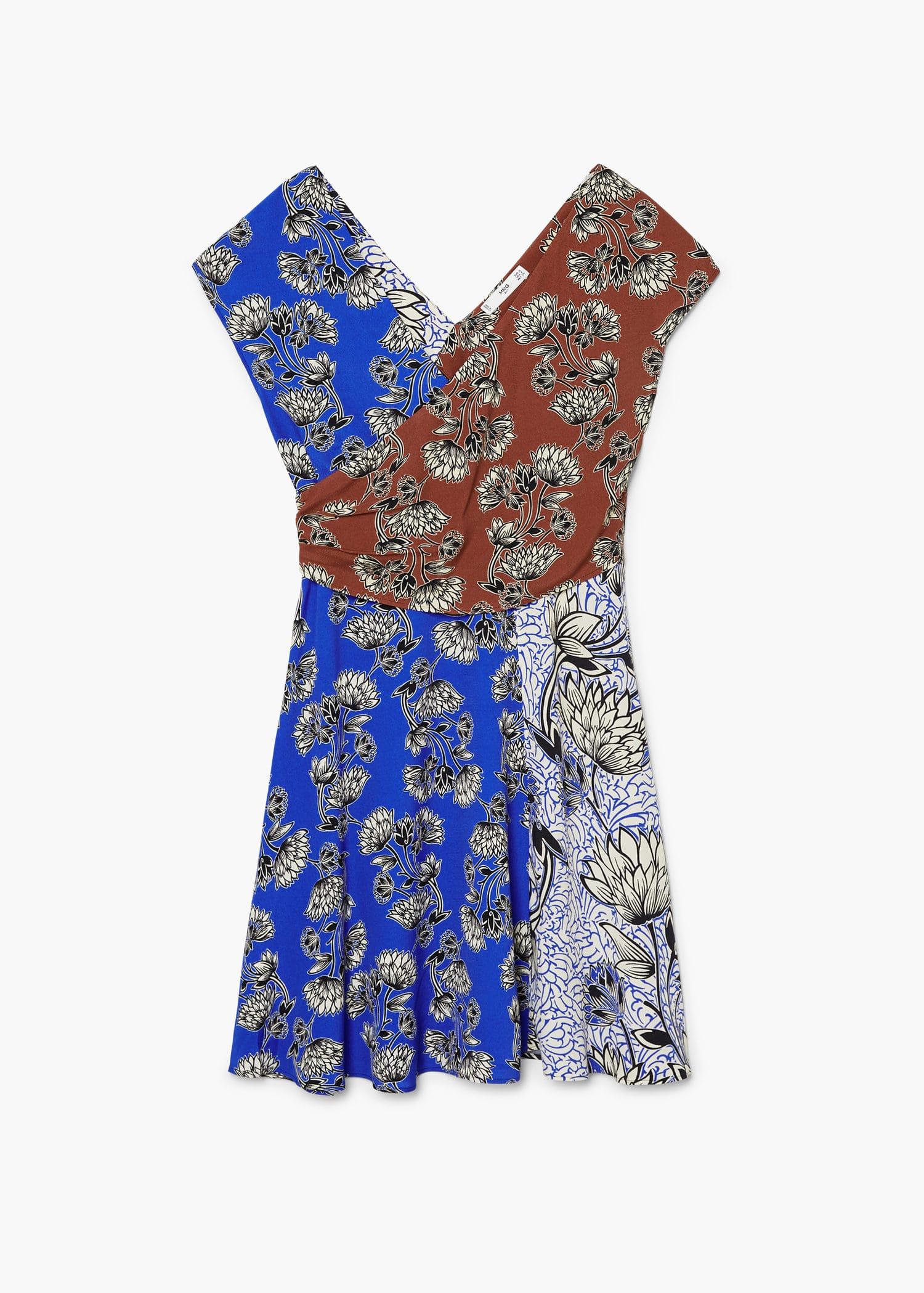 b0ff814363 Kombinált mintás ruha - f foRövid Női | MANGO Magyarország