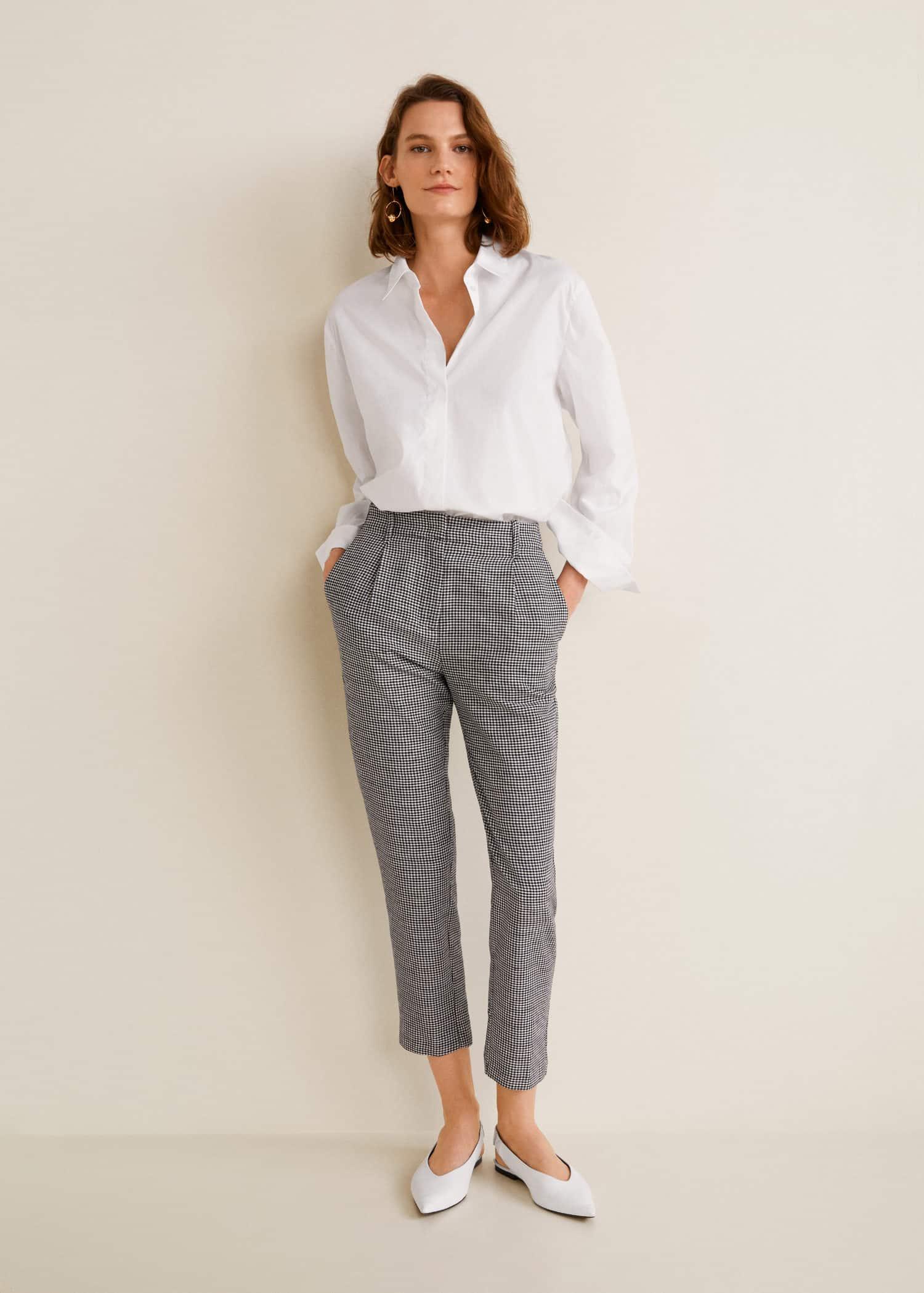 pantalon femme vichy