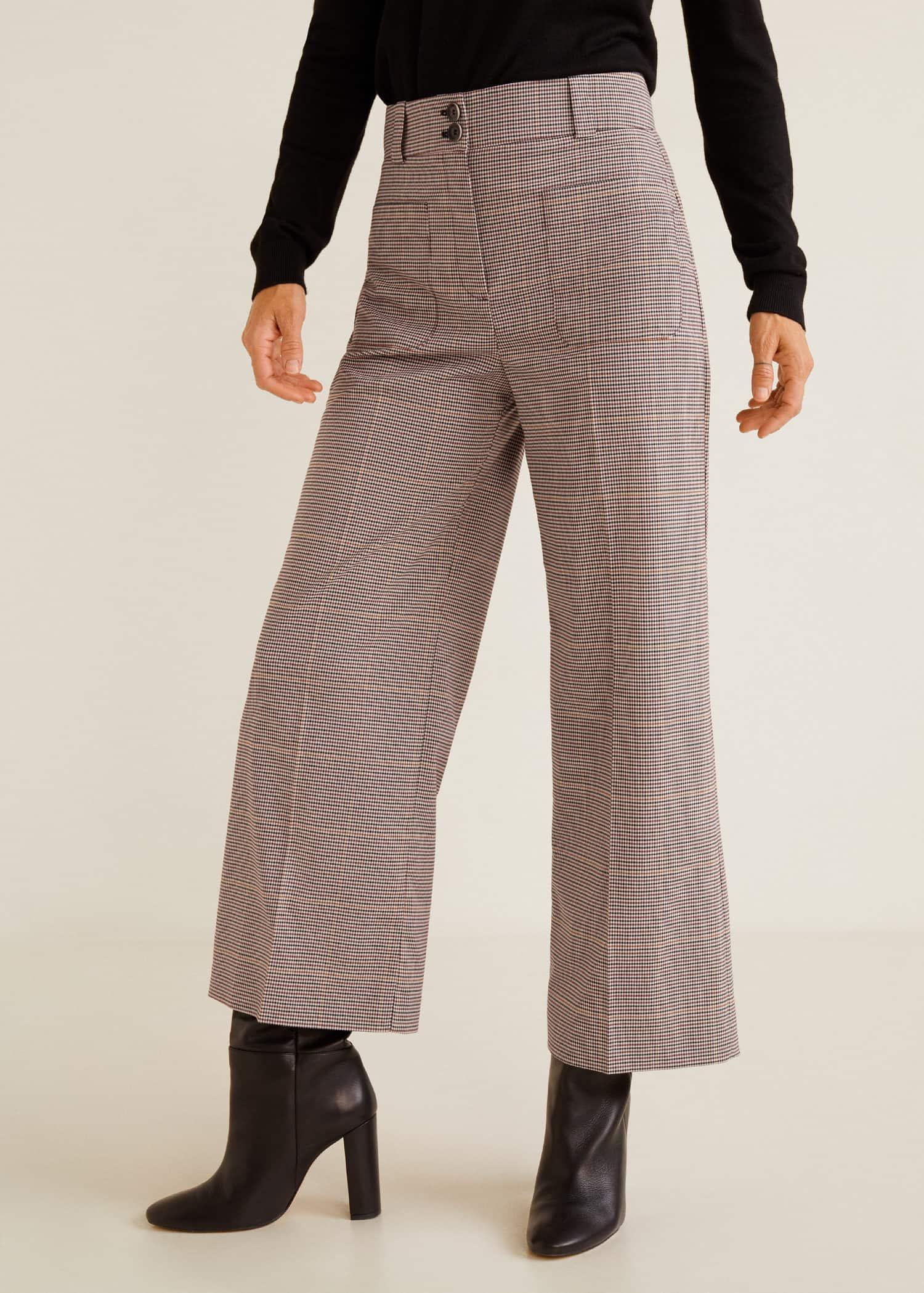 e5eebfe84574 Imprimé Femme Poches Pantalon Algérie Mango q6H8fXw