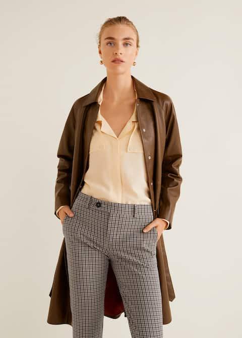 Παντελόνι κουστουμιού μάλλινο καρό