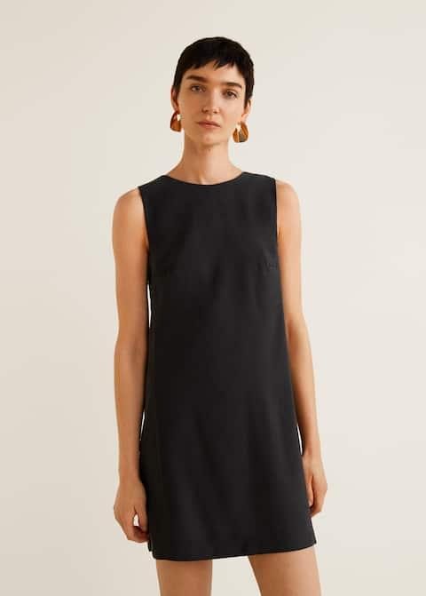 Φόρεμα ίσια γραμμή πάνελ