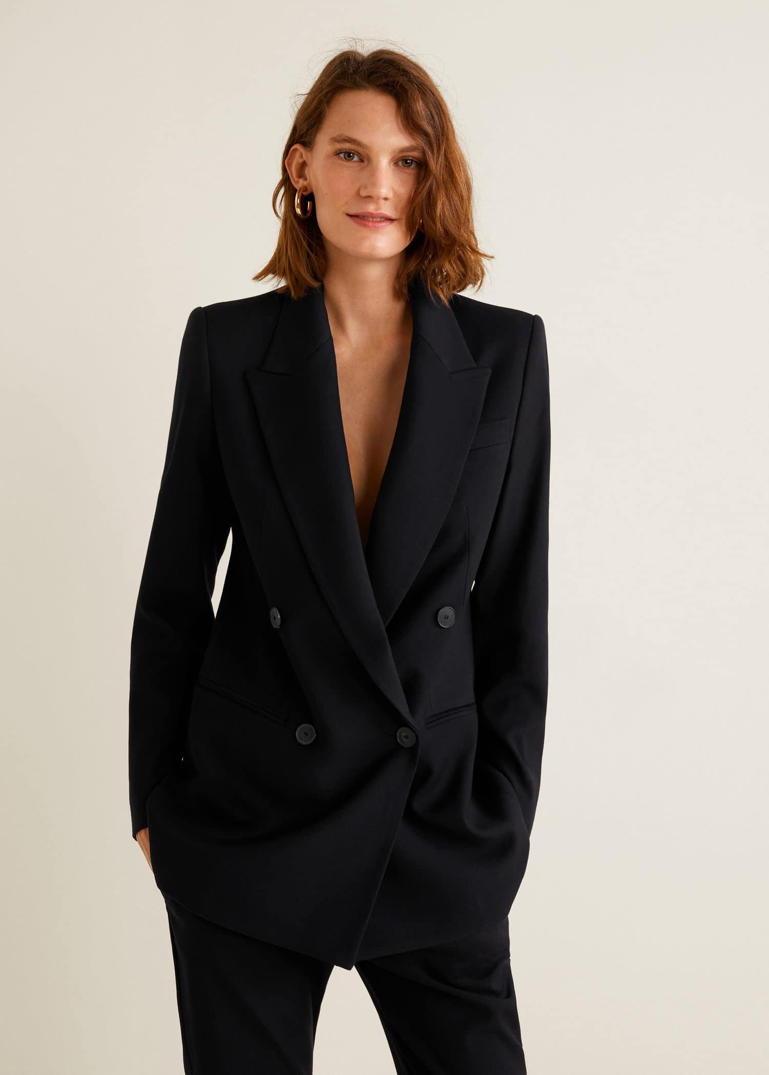 Double breasted blazer Dames | Mango Nederland