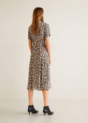 fcec3e507d97c1 Leopard print dress - Women   Mango United Kingdom