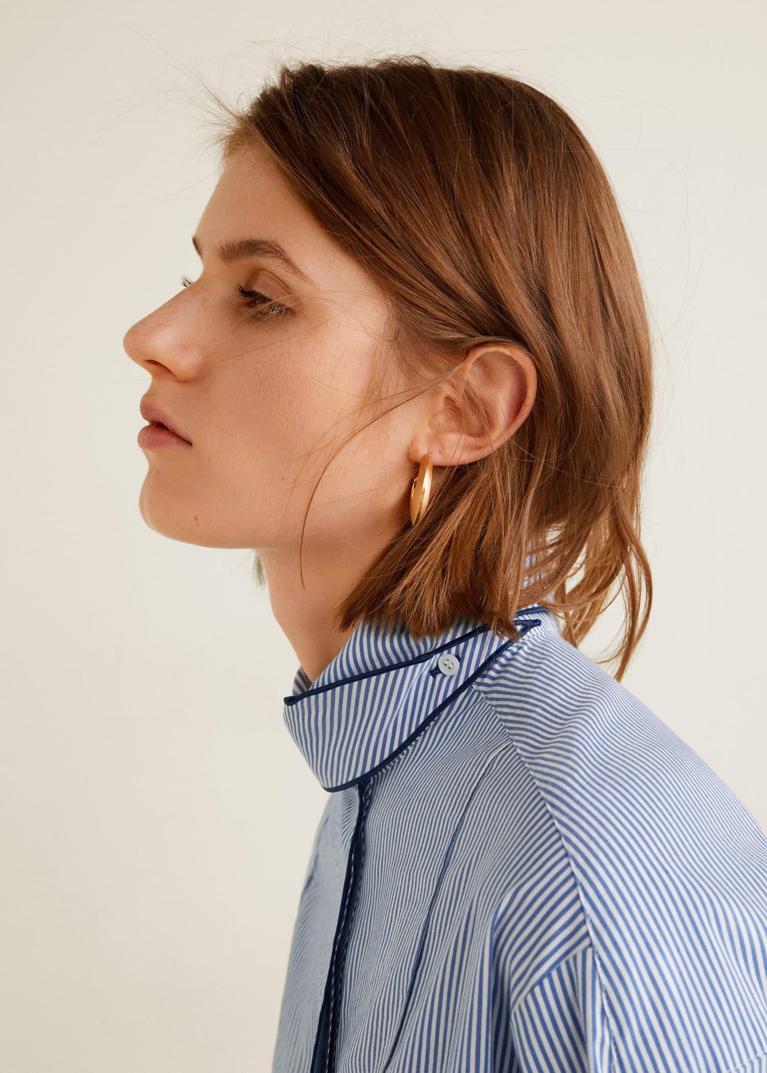 Skjorte med krage og sløyfe Damer | OUTLET Norge