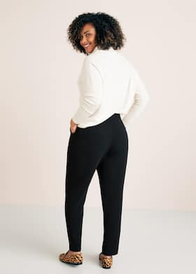 b4fca5b5ea02d Flowy straight-fit trousers - Plus sizes