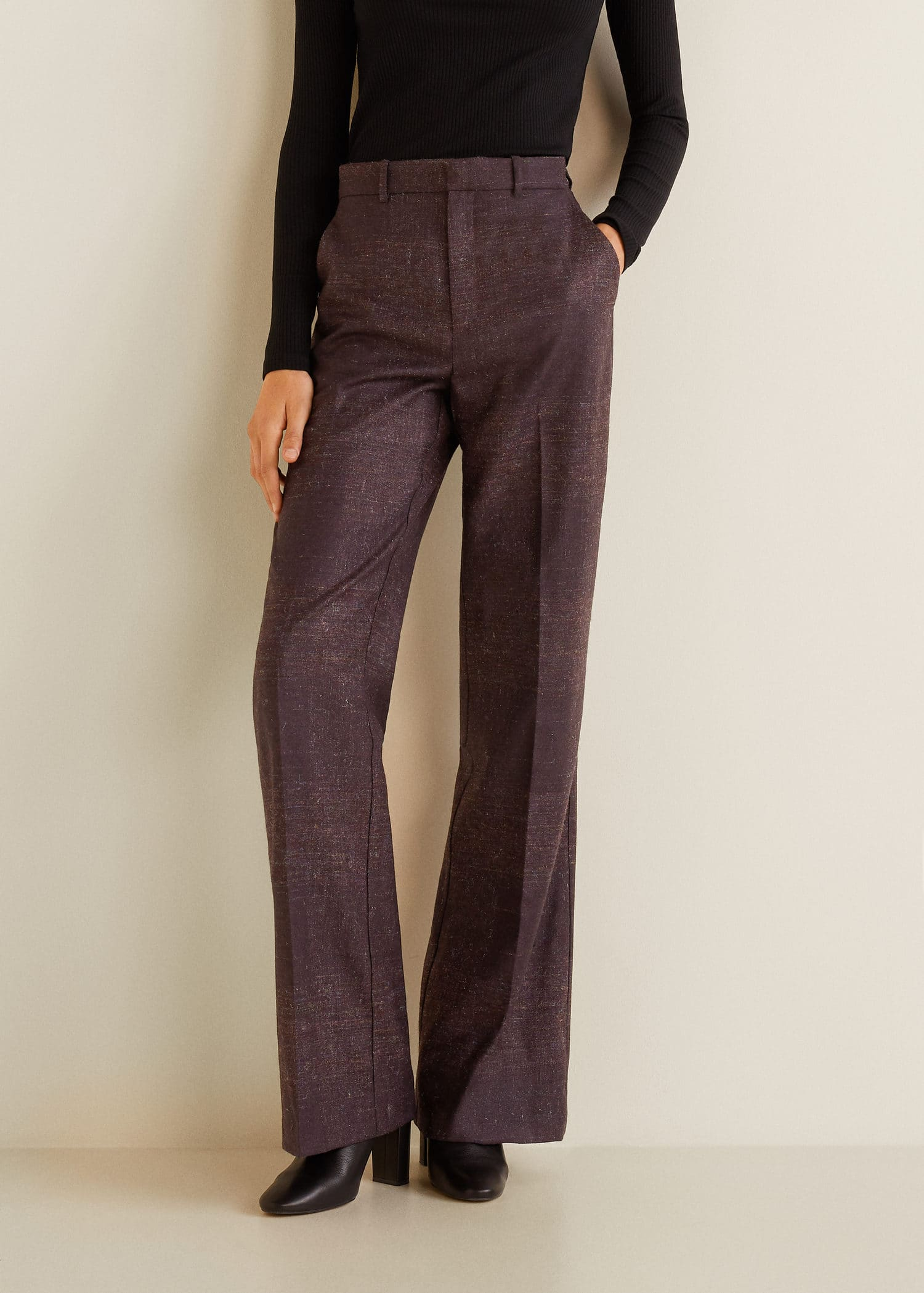 Flecked Trousers Wool Wool Flecked Flecked Wool Blend Blend Trousers 34AqR5jL