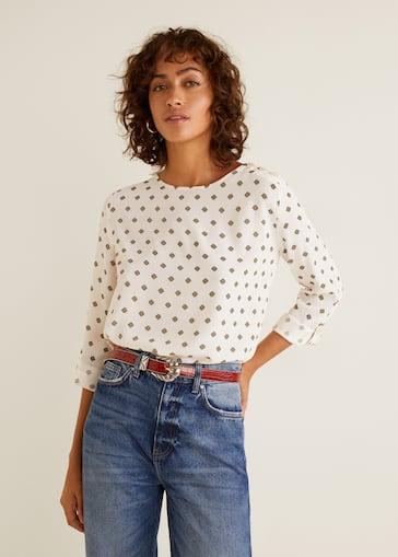 d46c7437587cc8 Buttons detail blouse - Woman   Mango Bahrain