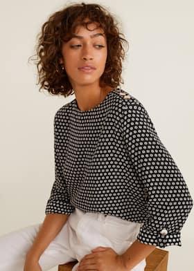 28b516e617d723 Buttons detail blouse - Woman   Mango Aruba