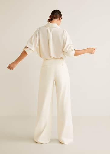 217635c5cbbf Pantalon costume laine recyclée - Femme