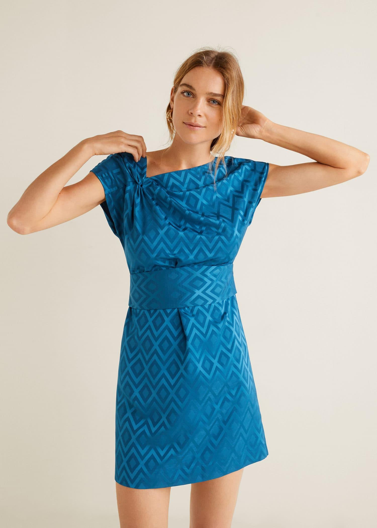 FemmeMango En Géométrique France Robe Imprimé L5ARj34