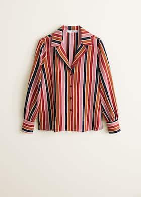 8e5f11407 Multicolor striped shirt - Women | Mango USA