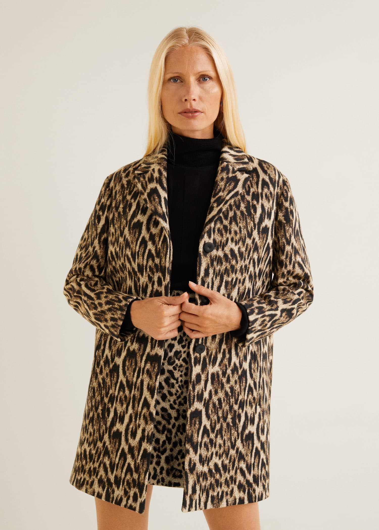 Unstructured leopard coat