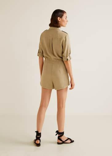 e40acfa0c9e Shirt collar jumpsuit - Woman