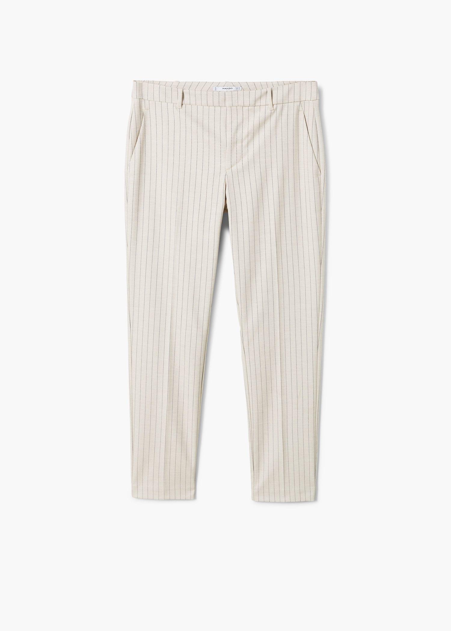 Rovné kalhoty s proužky