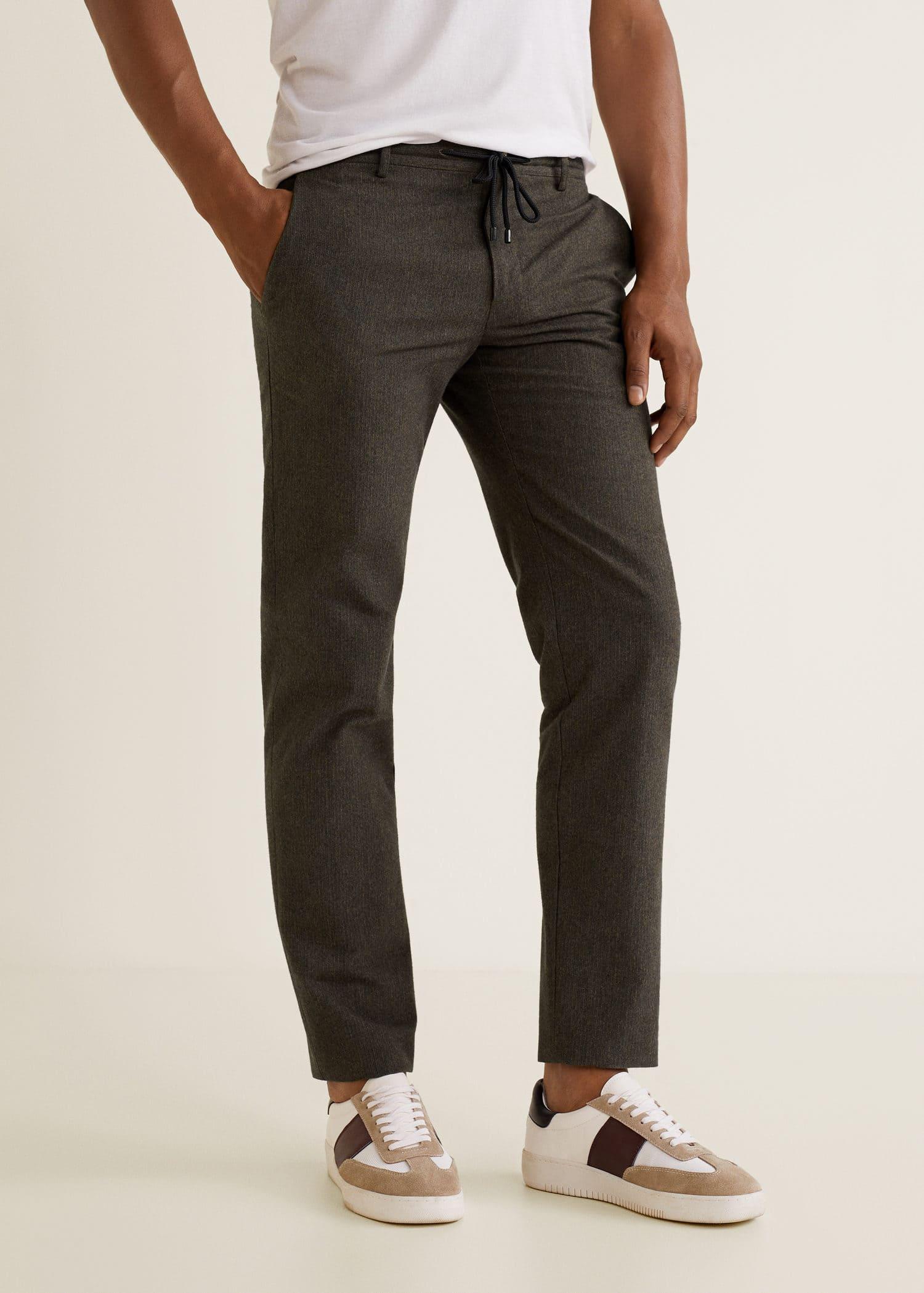 34c92c8d4c Regular-fit structured trousers - Man | MANGO Man Jordan