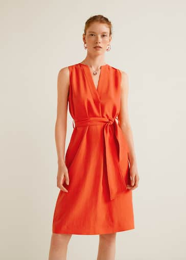 3a4d4d1e3ab7 V-neckline dress - Woman | Mango Jordan