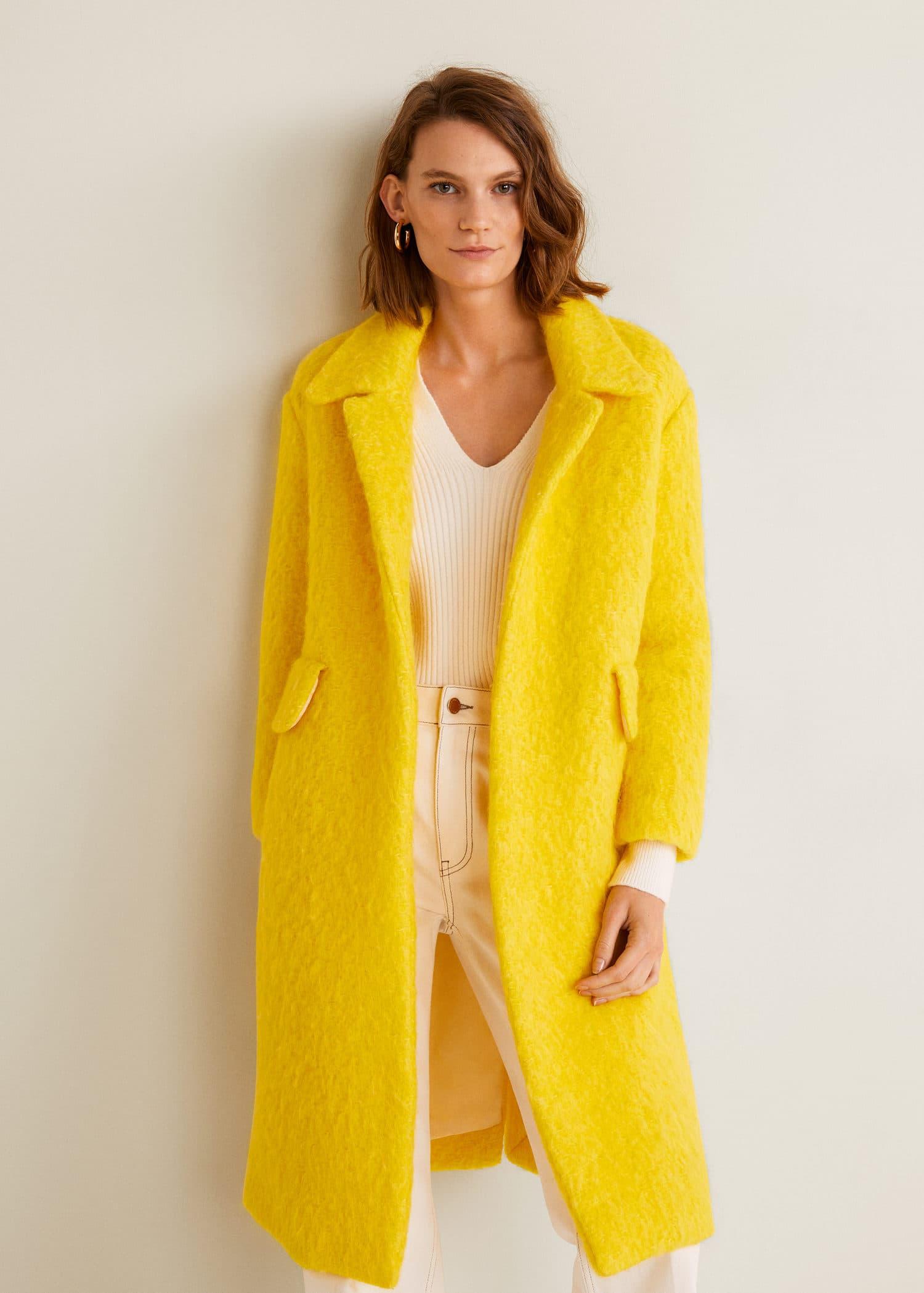 Manteau déstructuré en laine
