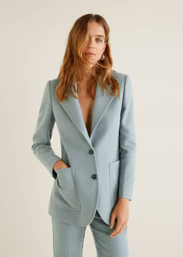 promoción estilo clásico fuerte embalaje Structured suit blazer