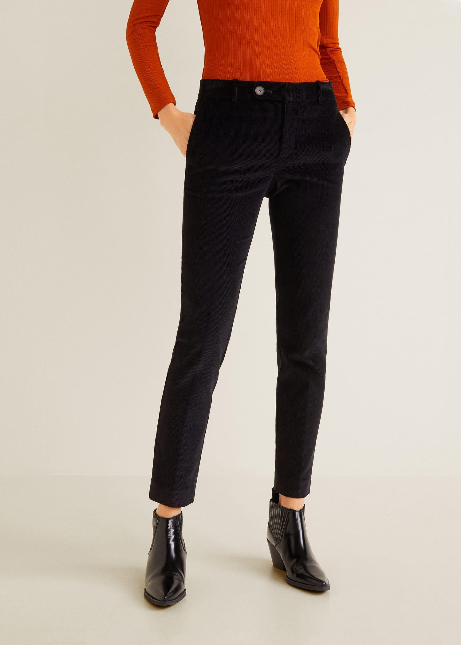 Bukse rett i fin cord