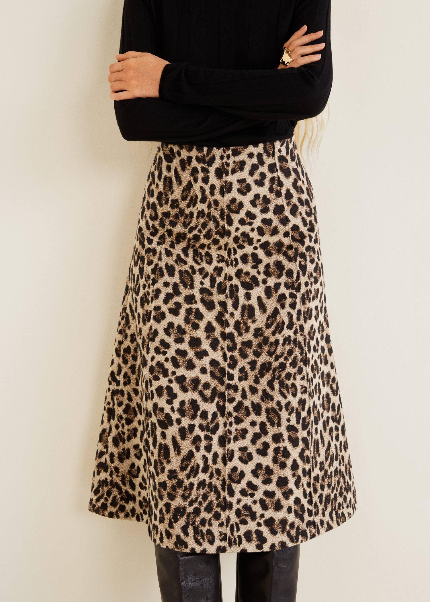 venta minorista 05e4d 52ffd Falda midi leopardo - Mujer | OUTLET Islas Canarias