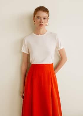 ef1dd6c13 Pleated midi skirt - Women | Mango USA