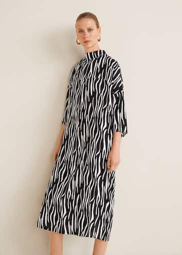 87e57e212163 Zebra printed dress - Women | Mango United Kingdom
