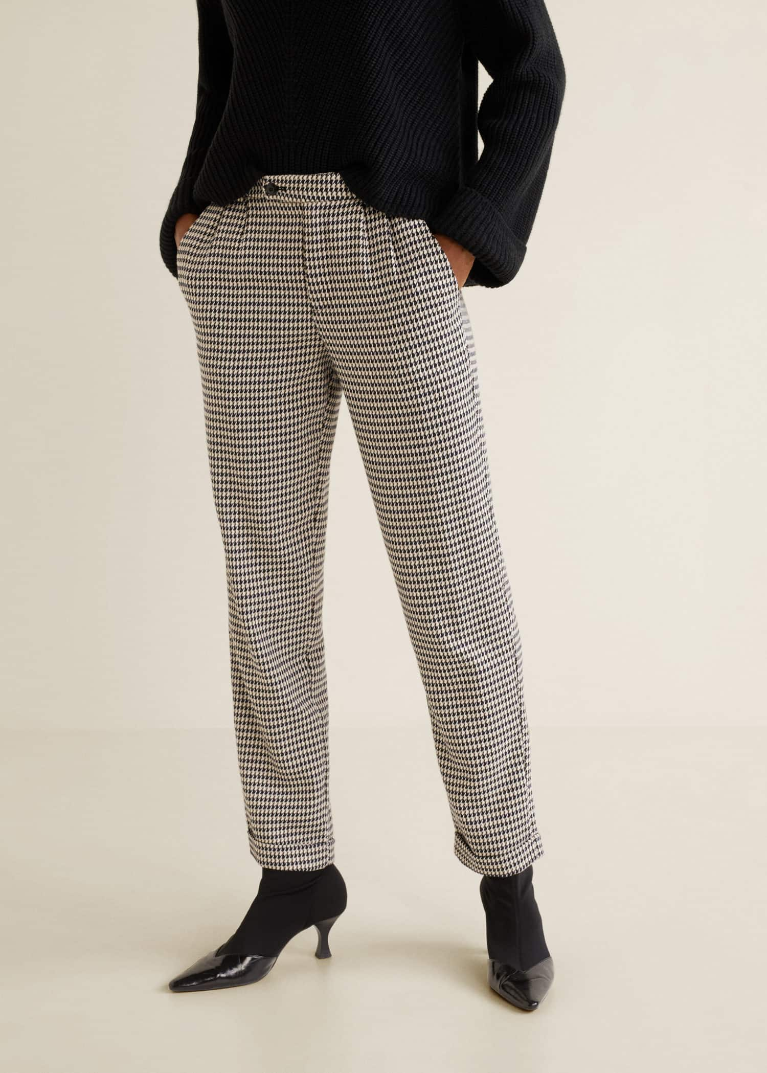 Pantalon De Pied Qgbewxn Mango France Femme Poule H671wx