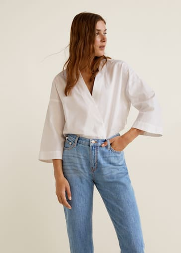 ed1150bbb6 Relaxed cropped jeans - Women