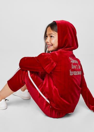 b4b6db6cd55 Ruffle velvet jacket - Girls | Mango Kids Jordan