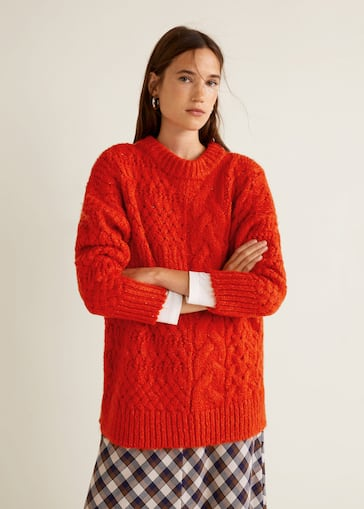 détaillant en ligne 46545 4210b Knitted braided sweater